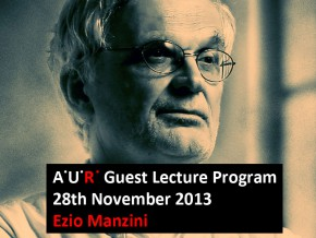AUR Lecture: City and Society – Ezio Manzini