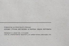 Otvaranje izložbe: stručno-umetnička ostvarenja Jovana Mitrovića