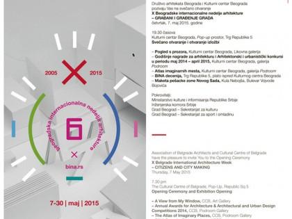 Svečano otvaranje X Beogradske internacionalne nedelje arhitekture