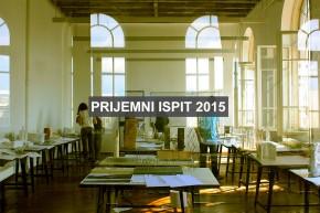 Пријемни испит 2015. за упис у прву годину студијских програма Архитектонског факултета у Београду