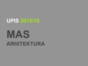 Измена Одлуке о форми и садржају пријемног испита за МАС – Архитектура