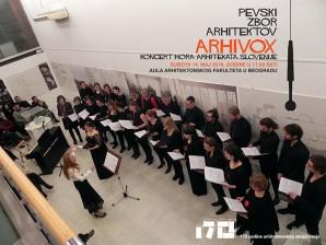Koncert hora arhitekata Slovenije – Arhivox u Auli Arhitektonskog fakulteta