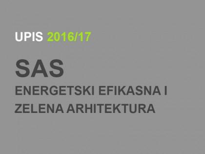 Упис на Специјалистичке академске студије – Енергетски ефикасна и зелена архитектура 2016/17