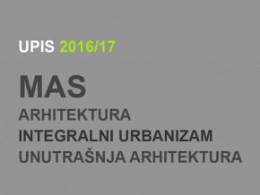 Upis u prvu godinu MAS 2016/17: DINAMIKA UPISA i UPUTSTVO ZA UPIS