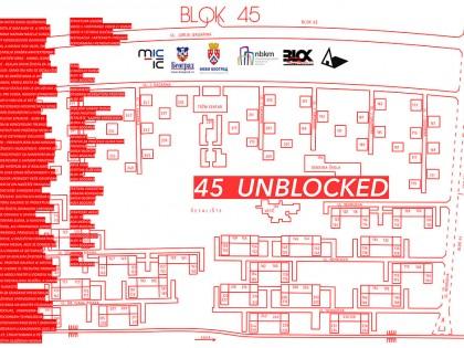 Изложба студентских радова: 45UNBLOCKED – Галерија Блок на Новом Београду