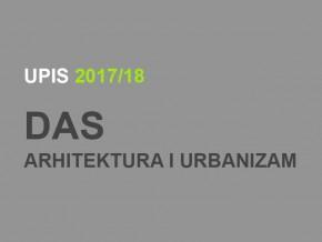 Upis u prvu godinu Doktorskih akademskih studija – Arhitektura i urbanizam 2017/18