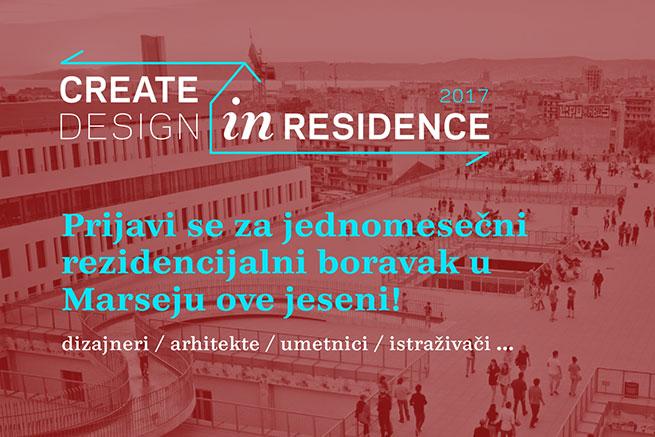 Конкурс за студијски боравак у Марсеју: Designer in Residence 2017