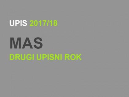 Upis u prvu godinu MAS 2017/18: Drugi upisni rok – KONAČNE RANG LISTE (ažurirano!)