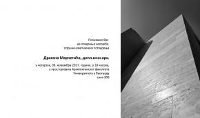 Izložba stručno-umetničkih ostvarenja: Dragan Marčetić, dipl.inž.arh.