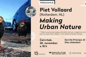 """Предавање и промоција књиге: """"Прављење урбане природе"""" – Пит Волард (Pieta Vollaard) у Новој Искри"""