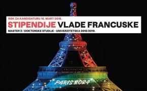 Конкурс: Стипендије Владе Француске за 2018/19. годину