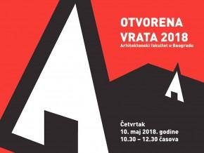 Догађај: Отворена врата Архитектонског факултета – 10. мај 2018.
