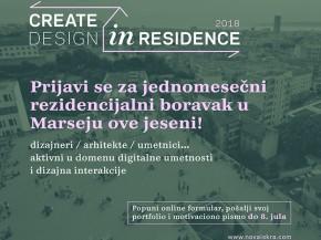Конкурс за студијски боравак у Марсеју: Designer in Residence 2018