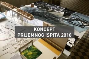 Koncept Prijemnog ispita 2018 na Arhitektonskom fakultetu