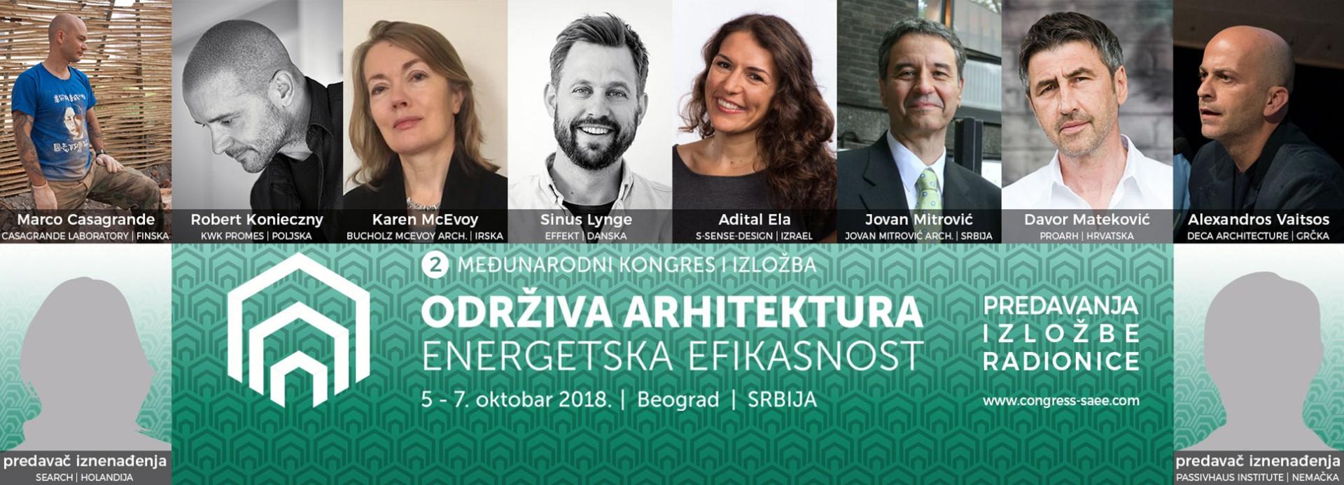 Drugi međunarodni kongres: Održiva arhitektura – energetska efikasnost (6-7. oktobar 2018.)
