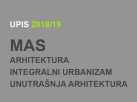 Upis u prvu godinu MAS 2018/19: Spiskovi prijavljenih kandidata