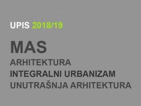 Upis u prvu godinu Master akademskih studija 2018/19