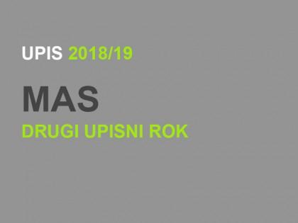 Upis u prvu godinu Master akademskih studija 2018/19: DRUGI UPISNI ROK – KONAČNE RANG LISTE