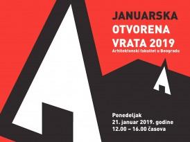 Догађај: Јануарска отворена врата Архитектонског факултета – 21. јануар 2019.