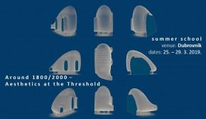 """Пролећна школа у Дубровнику: """"Around 1800/2000 – Aesthetics at the Threshold"""" (25-29.03.2019)"""