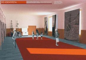 Становници села и студентско-наставнички тим уређују ентеријер сале Дома културе у МЗ Дојкинци