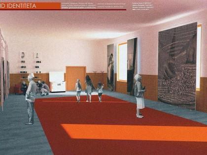 Stanovnici sela i studentsko-nastavnički tim uređuju enterijer sale Doma kulture u MZ Dojkinci