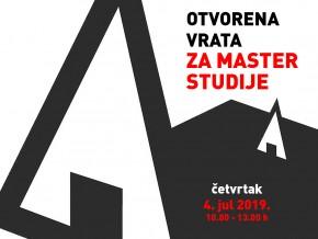 Отворена врата Архитектонског факултета за мастер студије – 4. јул 2019.