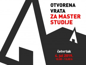 Otvorena vrata Arhitektonskog fakulteta za master studije – 4. jul 2019.