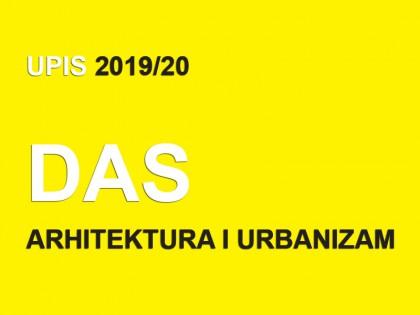 Upis u prvu godinu Doktorskih akademskih studija – Arhitektura i urbanizam 2019/20
