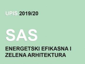 Upis na Specijalističke akademske studije 2019/20 – Energetski efikasna i zelena arhitektura 2019/20 – konačna rang lista
