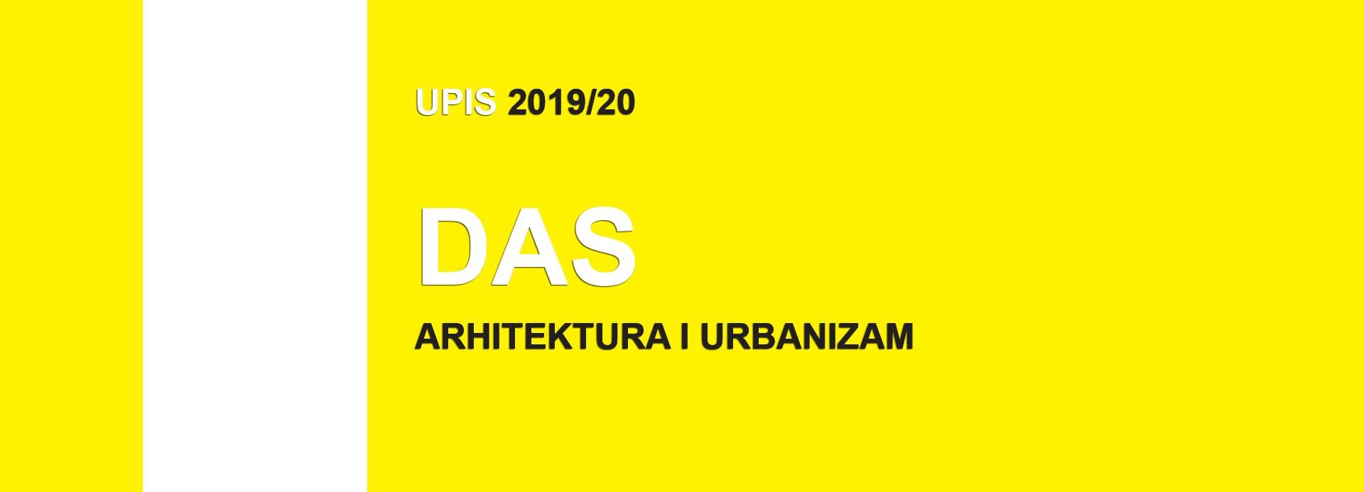 Докторскe академскe студиje – Архитектура и урбанизам 2019/20 – прелиминарне ранг листе