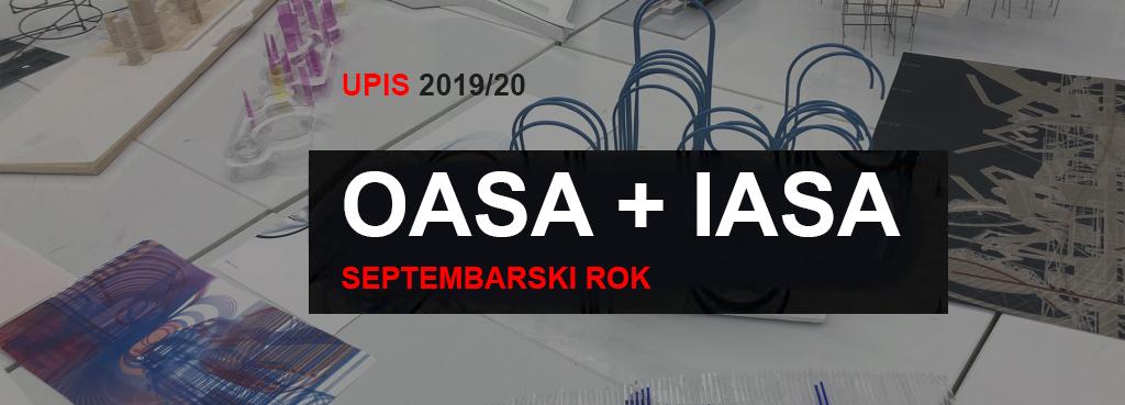 Упис у прву годину ОАС и ИАС Архитектура 2019/20 – септембарски рок: коначна  ранг листа