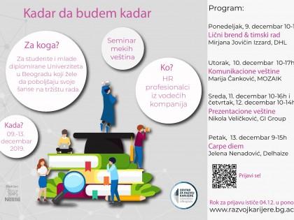 Prijavite se za novi ciklus programa KADAR DA BUDEM KADAR