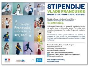Stipendije Vlade Francuske 2020-2021.