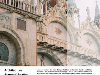 Letnje škole arhitekture u Veneciji 1. do 13. jula 2020. godine