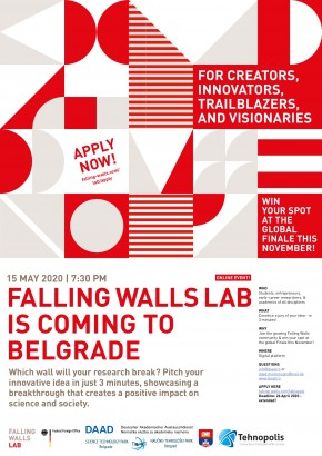 Produžen rok za Falling Walls Lab