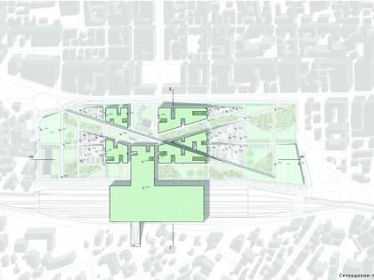 """Formiranje hibridnog i multifunkcionalnog urbanog prostora na poligonu javnog prostora ispred železničke stanice u gradu Peskara, Italija. Projekat ,,Green Hub"""""""