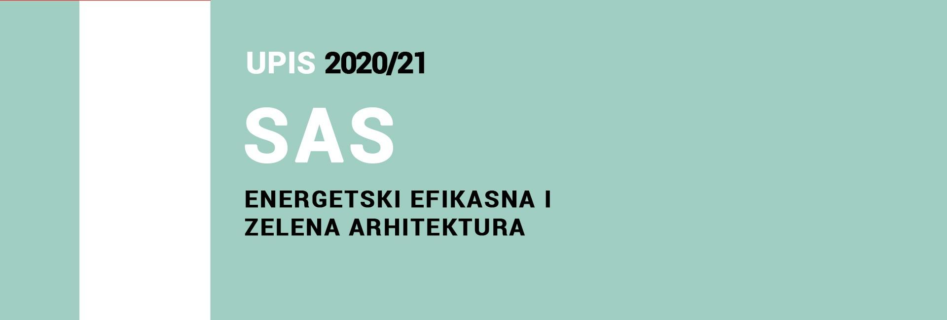 Upis na Specijalističke akademske studije 2020/21 – Energetski efikasna i zelena arhitektura 2020/21