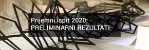 Prijemni ispit 2020 septembarski rok: PRELIMINARNI REZULTATI