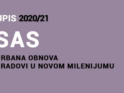 Upis na Specijalističke akademske studije – Urbana obnova – Gradovi u novom milenijumu 2020/21