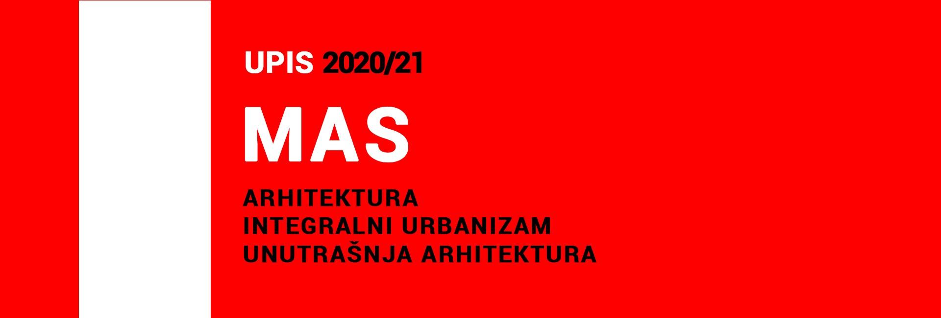 MAS 2020/21 drugi upisni rok: PRELIMINARNE RANG LISTE