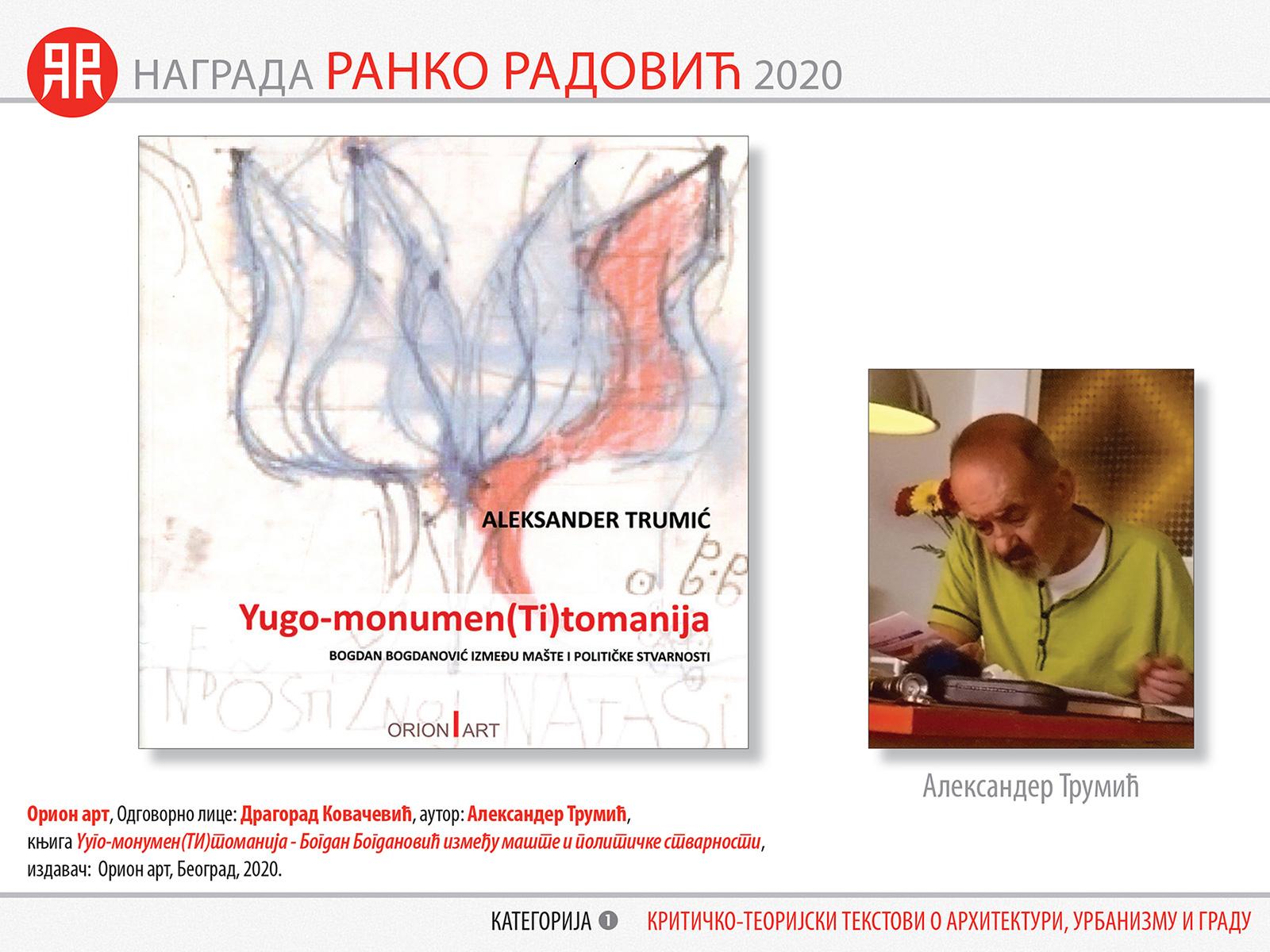 НАГРАДА РАНКО РАДОВИЋ 2020