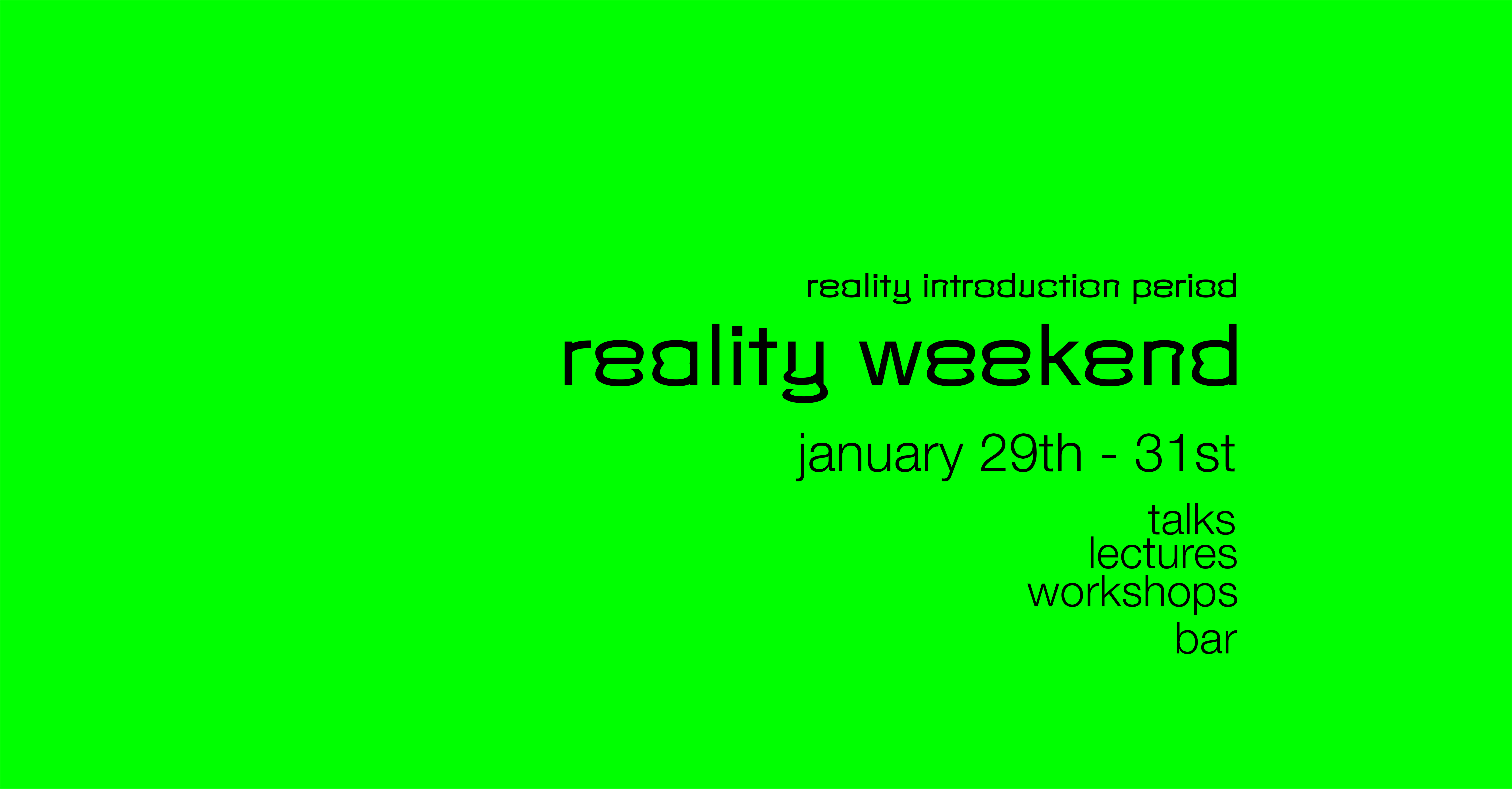 Reality Weekend_cover