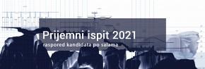 PRIJEMNI ISPIT 2021: Raspored po salama