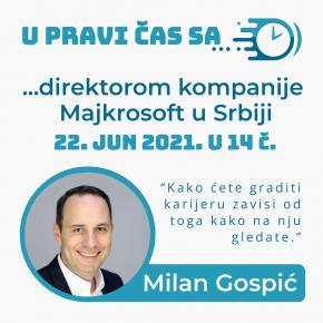 У ПРАВИ ЧАС са… директором компаније Мајкрософт у Србији