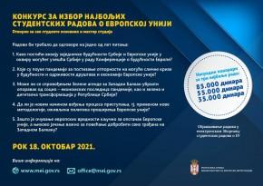Raspisan konkurs za izbor najboljih studentskih radova o EU